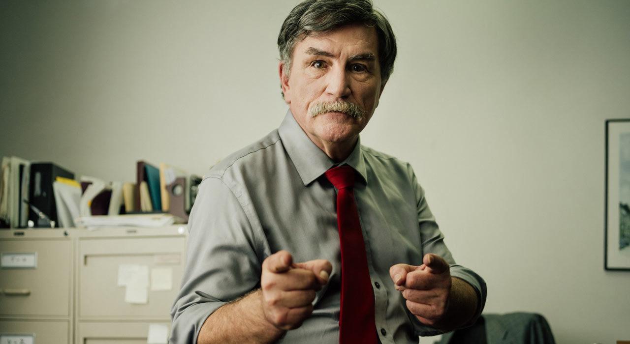 Bob Cutz pointing